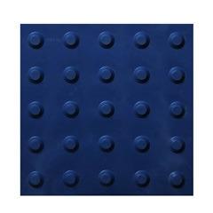 Piso Tátil Alerta 25x25 Cm 16 Peças Azul Royal   - Kapazi