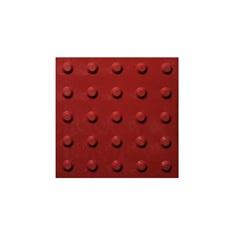 Piso Tátil Alerta 25x25 Cm 16 Peças Vermelho - Kapazi
