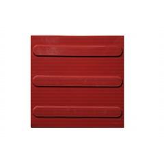 Piso Tátil Direcional Vermelho 25x25 Cm 16 Peças - Kapazi