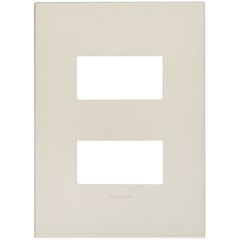 Placa 4x2 1+1 Postos Cromado  - Pial Legrand