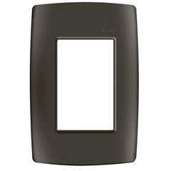 Placa 4x2 3 Postos com Suporte Grafite Fosco S30 - Simon
