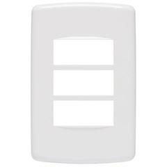 Placa 4x2 para 3 Módulos Duale Up Branco - Iriel