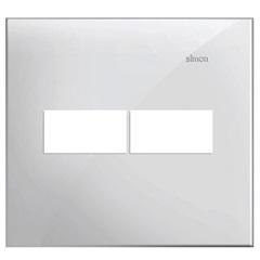 Placa 4x4 2 Postos Horizontais Simon 35 Branco - Simon