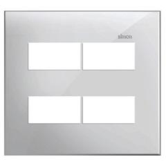 Placa 4x4 4 Postos Separados Simon 35 Branco
