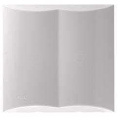 Placa Cega com Pré Corte com Suporte 4x4 Brava Branco - Iriel
