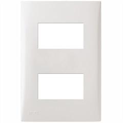 Placa com Suporte 4x2 2 Módulos Separados Imperia Branca