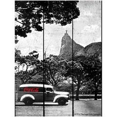 Placa de Madeira Coca-Cola Landscape Rio de Janeiro  - Urban