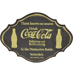Placa de Parede em Mdf Coca-Cola Thirst Know No Season - Urban
