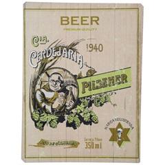 Placa Decorativa Beer Bege 30 X 40 Cm 5459 - Império