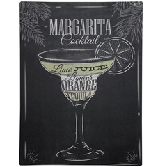 Placa Decorativa Blackboard Margarita Cocktail 30 X 40 Cm 1765 - Império