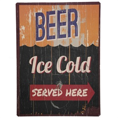 Placa Decorativa Cold Beer Ice 40 X 30 Cm  - Império