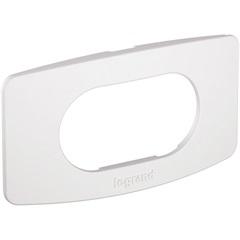 Placa E Suporte 1 Posto para Móveis Nereya Branco   - Pial Legrand