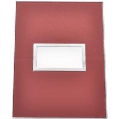 Placa para 1 Posto Arteor Mirror Red 4x2