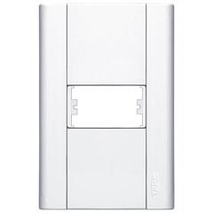 Placa para 1 Posto Modulare 4x2 Branco  031    - Fame