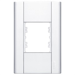 Placa para 2 Módulos Horizontais 4x2 Modulare Branca - Fame