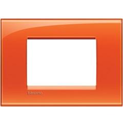 Placa para 3 Postos Quadrado 4x2 Arancio - BTicino