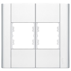 Placa para 4 Postos Modulare 4x4 Branco 183    - Fame