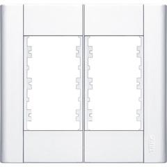 Placa para 6 Postos Modulare 4x4 Branco 230 - Fame