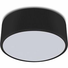 Plafon Clean 20 Cm 412/1 Preto - Spot Line