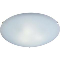 Plafon Clean 25 Cm Branco com Fixador Cromado - Bronzearte