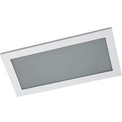 Plafon de Embutir Retangular para 4 Lâmpadas Branco