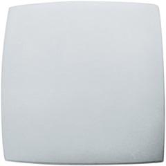 Plafon em Vidro Quadrado para 2 Lâmpadas Bianco 30cm Branco - Bronzearte