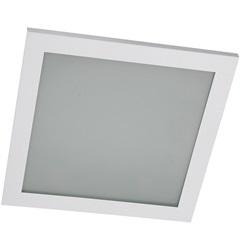 Plafon Embutido 2 Lampadas Máximo 100 W Ref: Pte 2525 Branco - Pantoja