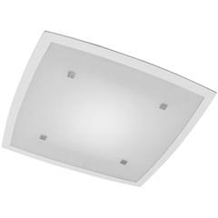 Plafon Flat 37x37cm 2 Luzes E27 Ref. Ft3737pbc - Bronzearte