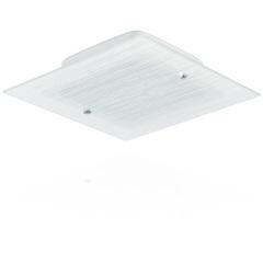 Plafon Flex Quadrado 30 Cm 2 Lâmpadas Detal Risco Branco - Blumenau