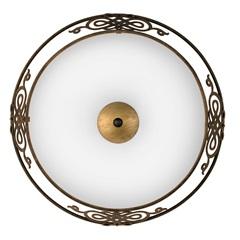 Plafon Grande Redondo Bronze para 3 Lâmpadas - Eglo