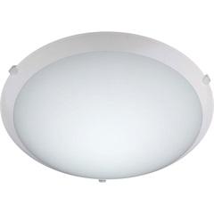 Plafon Led em Vidro Redondo 20w 110v New Clean 30cm 6400k Luz Branca - Bronzearte