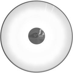 Plafon Led Redondo 24w Bivolt 37cm 4000k Luz Branca - Casanova