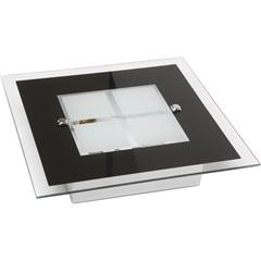 Plafon Módena Preto para 2 Lâmpadas 7050 - Auremar