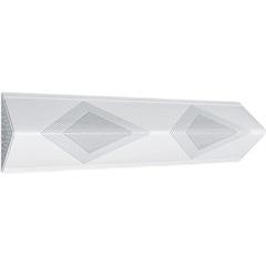 Plafon para 2 Lâmpadas com Acrílico Listrado Triangular  - Tualux
