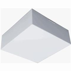 Plafon para 2 Lâmpadas Valencia Branco Quadrado - Madrilux