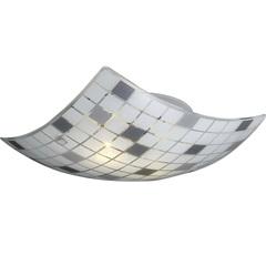 Plafon Paulistinha 3 Luzes Quadrado Soquete E27 34x34cm Branco - Bronzearte