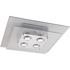 Plafon Spacial Quadrado  para 4 Lâmpadas - Pantoja