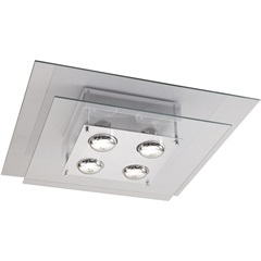 Plafon Spacial Quadrado para 4 Lâmpadas Ref: Pmq 131 - Pantoja