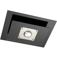 Plafon Spacial Retangular  para 1 Lâmpada Ref: Pmr 135 Vidro Preto - Pantoja