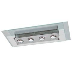 Plafon Spacial Retangular  para 4 Lâmpadas Ref: Pmr 138 - Pantoja