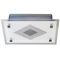 Plafon Transparente Malaga para 01 Lâmpada Retangular - Tualux