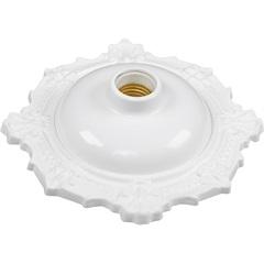 Plafonier Decorativo Bvc para 1 Lâmpada Branco