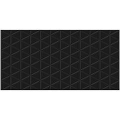 Porcelanato Borda Reta Matelasse Black 53x106cm
