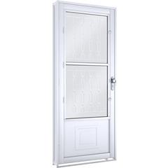 Porta Abrir com Grade Mosaico E Postigo Esquerda  - Lucasa