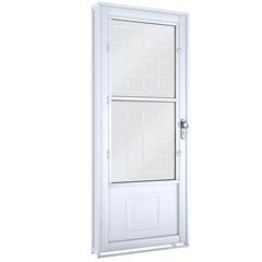 Porta Abrir com Grade Quadrada E Postigo 215x90x6,5 Cm Ref.: 1751.1 - Lucasa