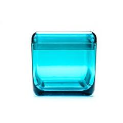 Porta Algodão E Cotonetes com Tampa Cube Verde Ref: 20879/0129 - Coza
