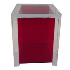 Porta Algodão em Acrílico 24x9cm Vermelho - Formacril