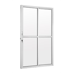 Porta Balcão 2 Folhas com Fechadura Tetra 210x120 Branca - Ebel
