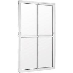 Porta Balcão Branca 2 Folhas Vidro Liso  210x120 Cm  - Casanova