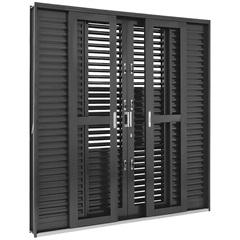 Porta-Balcão de Correr 217x200x16,5cm  - Ref.: 6991749 - Sasazaki